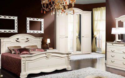 Спальный гарнитур Сорренто (белый)