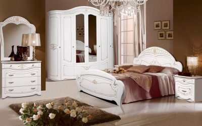 """Спальня """"Луиза 5 / Луиза 4"""" (орех, белая)"""